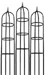 """Gardman Classic Garden Obelisks, Black, 96"""", Pack of 3"""