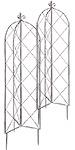 Gardman Folding Finial Obelisks, Brown Antiqued, Pack of 2