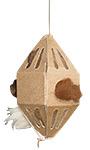GreenBird Eco Friendly Nesting Material Holder with Fibers