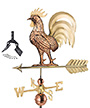 Good Directions Proud Rooster Weathervane with Roof Mount