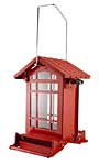 Chateau Squirrel Resistant Weight Sensitive Bird Feeder, Red