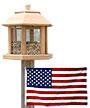 Heath Le Grande Gazebo Bird Feeder and FREE American Flag