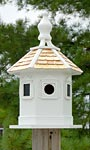 Home Bazaar Enchantment Bird House, White