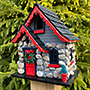 Home Bazaar Charlevoix Stone Christmas Cottage with LEDs
