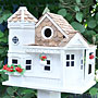Home Bazaar Sea Cliff Cottage Bird House, White