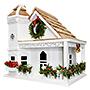 Home Bazaar Yuletide Cottage Bird House, White