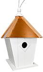 Home Bazaar Paxton Hanging Bird House with Cooper Roof