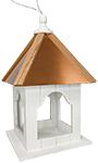 Home Bazaar Madison Hanging Platform Feeder with Copper Roof