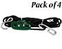 "Tie Boss Cargo Tie Down & Storage Ropes, 1/4"", Forest, 4 Pk"