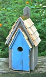 Heartwood Bluebird Manor, Grey with Blue Door