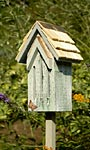 Heartwood Small Butterfly House & Pole, Grey
