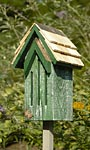 Heartwood Small Butterfly House & Pole, Green