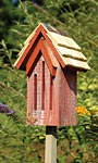 Heartwood Small Butterfly House & Pole, Red