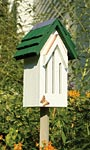 Heartwood Small Butterfly House & Pole, White