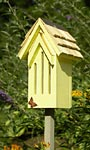 Heartwood Small Butterfly House & Pole, Yellow