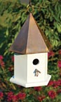 Heartwood Copper Songbird House, Browned Copper Roof