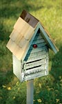 Heartwood Lady Bug House w/ Mounting Pole, Grey