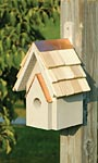 Heartwood New Classic Bird House, Smoke Grey