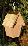 Heartwood Wren in the Wind Hanging Bird House, Brown