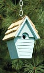 Heartwood Wren in the Wind Hanging Bird House, Blue Eggshell