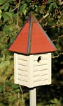 Heartwood Gatehouse Bird House, Smoke Grey