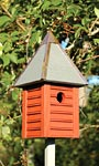 Heartwood Gatehouse Bird House, Redwood