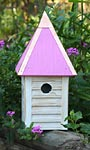 Heartwood Gatehouse Bird House, Pink Roof