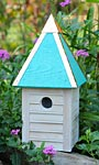Heartwood Gatehouse Bird House, Turquoise Roof