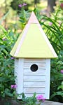 Heartwood Gatehouse Bird House, Yellow Roof