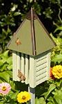 Heartwood Flutterbye House & Pole, Celery