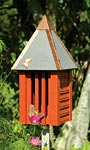 Heartwood Flutterbye House & Pole, Redwood