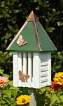 Heartwood Flutterbye House & Pole, White