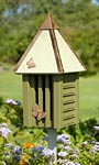 Heartwood Flutterbye House & Pole, Pinion Green