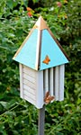 Heartwood Flutterbye House & Pole, Turquoise Roof