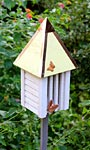 Heartwood Flutterbye House & Pole, Yellow Roof