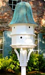 Heartwood The Barrington Bird House, White w/ Verdigris Roof