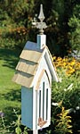 Heartwood Butterfly Chapel with Pole, Antique White
