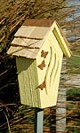 Heartwood Butterfly Bijou House & Pole, Yellow