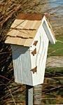 Heartwood Butterfly Bijou House & Pole, White