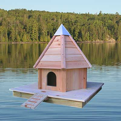 heartwood aqua duck luxury floating duck house at bestnest