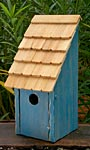 Heartwood Bluebird Bunkhouse Bird House, Blue