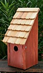 Heartwood Bluebird Bunkhouse Bird House, Redwood