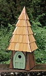 Heartwood Lord of the Wing Bird House, Moss Green
