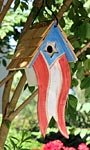 Heartwood Betsy's Patriotic Bird House