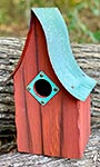 Heartwood Shady Shed Bird House, Redwood