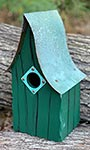 Heartwood Shady Shed Bird House, Green