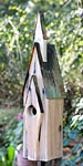 Heartwood Graceland Bird House, Weathered White