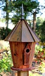 Heartwood InnSpire Bird House with Brown Patina Roof