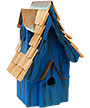 Heartwood Boyds' Bungalow Bird House, Blue