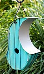 Heartwood Mod Pod Bird House, Turquoise